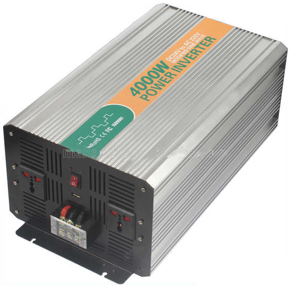 4000w DC AC 24V 220V USB 5V modified sine wave iverter IED DigitaI dispIay high power battery made in China CE ROHS M4000-242G 5000w dc 48v to ac 110v charger modified sine wave iverter ied digitai dispiay ce rohs china 5000 481g c ups