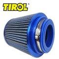 "TIROL Ingesta T10176b Auto Universal Afilado Redondo de Aire Frío/3 ""76-88-101mm Filtro de Aire (Azul)"