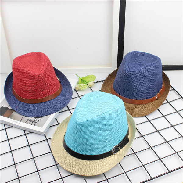 a66f09e3 Wholesale 15 Colors Panama Hat Men Summer Fedora Hat Women Beach Patched  Straw Hats