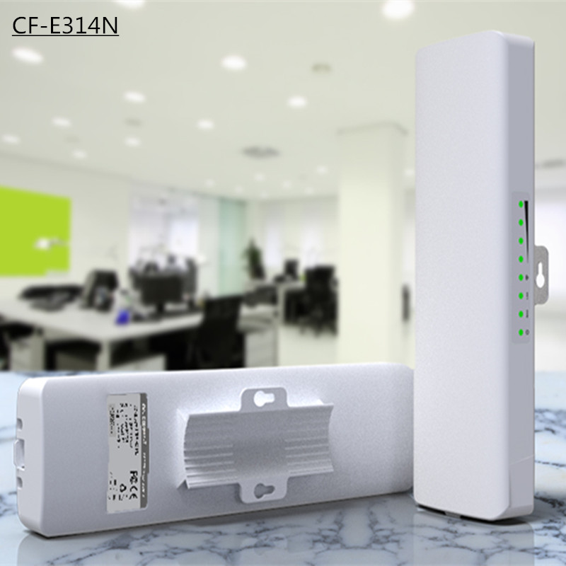 2pcs COMFAST CF-E314N 300Mbps High Power Outdoor Wireless repeater/CPE Bridge Wifi transmission/receiver 2KM support IP camera
