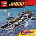 3057 UNIDS LEPIN 07043 Marvel Avengers Superhéroe El Escudo Helicarrier Building Block Kit