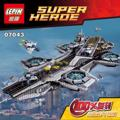 3057PCS LEPIN 07043  Marvel Superheroe The Shield Helicarrier Avengers Building Block Kit