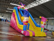 inflatable bouncer castle clown slide for kids