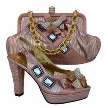 Italian Design Shoes And Bag Set Italian For Party High Quality Shoe And Bags Set for