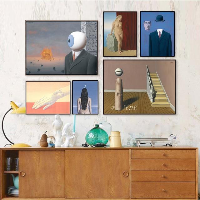 Klassische Kunst Sammlung Ölgemälde Drucke Auf Leinwand Rene Magritte  Wandkunst Bild Malerei Für Wohnzimmer Wand Unframed