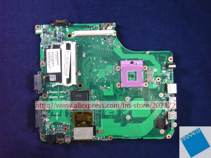 V000126250 Motherboard for Toshiba satellite A300 A305 6050A2171501 nokotion sps v000198120 for toshiba satellite a500 a505 motherboard intel gm45 ddr2 6050a2323101 mb a01
