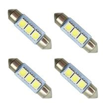 100pcs/lot C5W White 5050 3 SMD 36mm 39mm 41mm Festoon Interior Dome Auto LED Light Bulbs 12V Car Indicator
