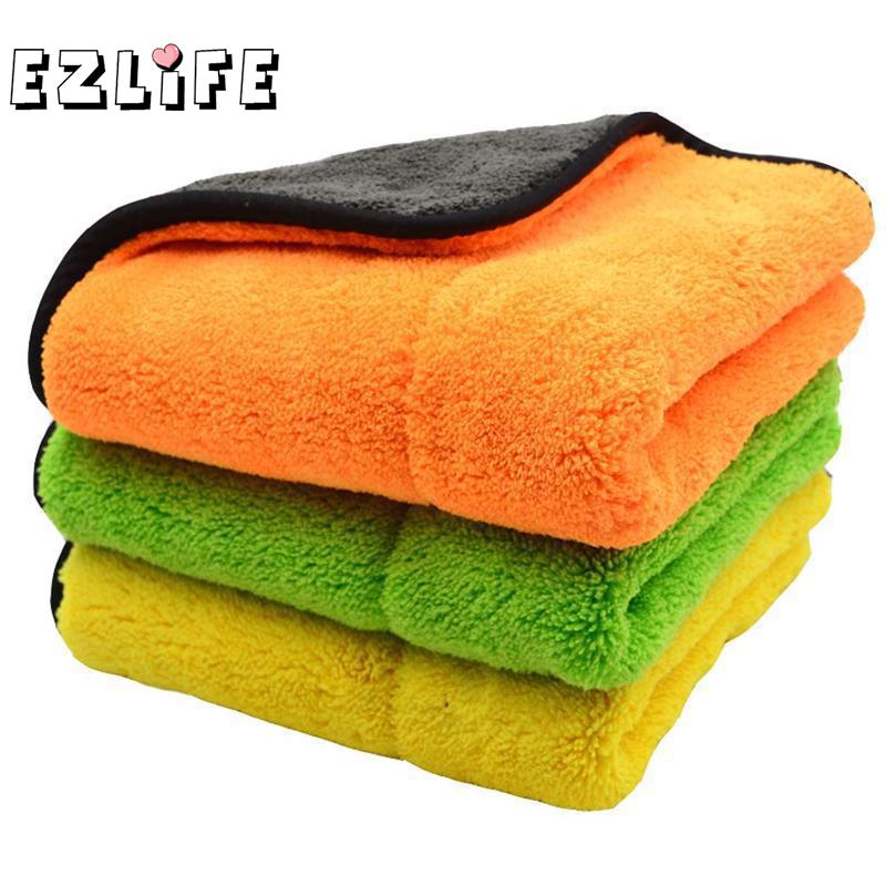 1PC Super Absorbent Car Wash Microfiber Towel Car Cleaning Drying Cloth Large Size 45x38cm Hemming Car Care Cloth Towel QSK9862