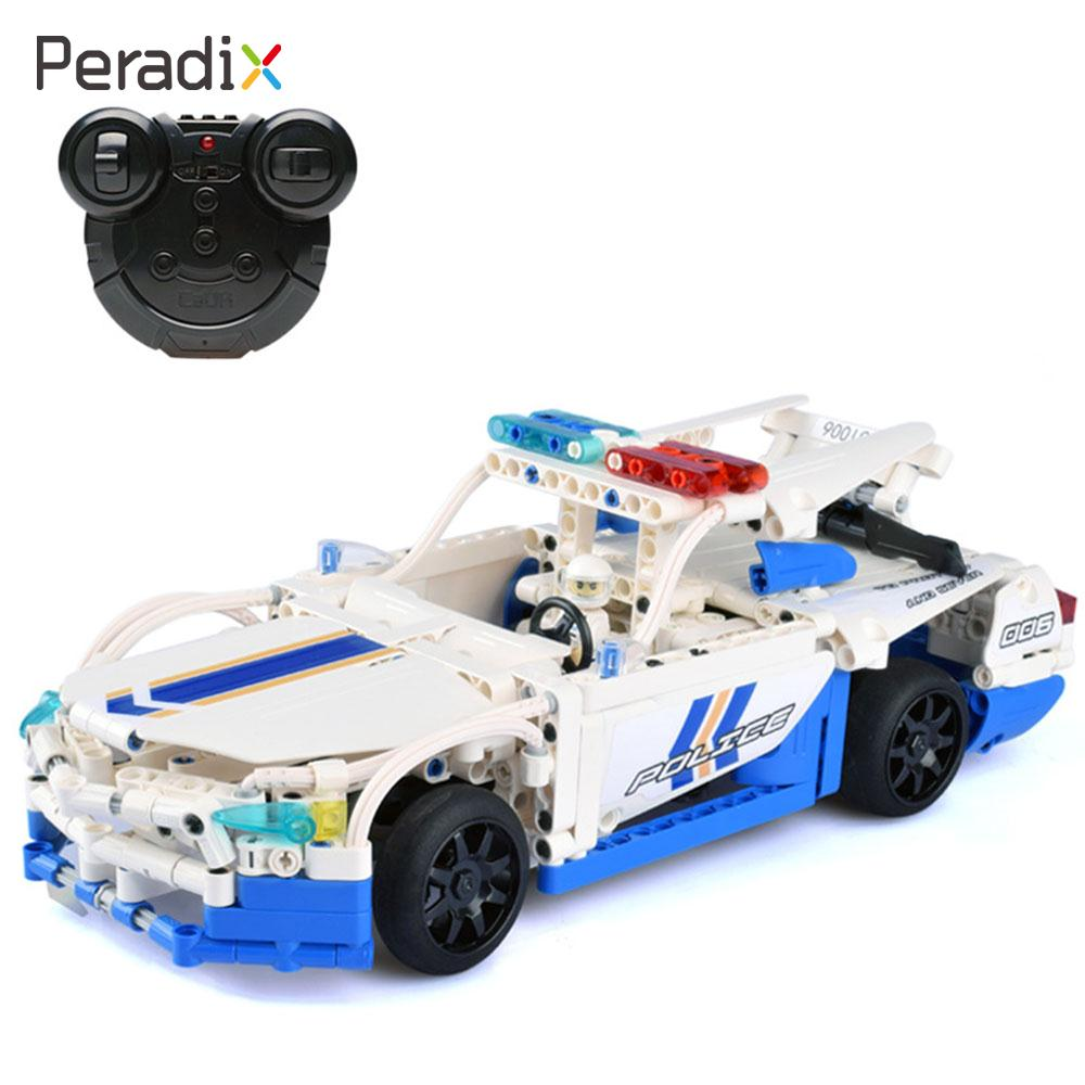 Blocks RC Vehicles Assemble Police Car 2.4GHz Toys Fun Police Car Building Blocks Gift Boy Building Blocks Car