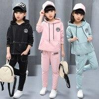 Hot sale 2018 autumn new little girl costume set winter children wear cotton casual sportswear children's clothing sports suit