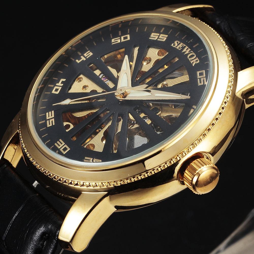 2016 новий розкіш топ бренд SEWOR мода - Чоловічі годинники