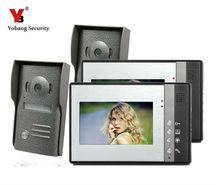 Yobang Security Yobang Security ship7 Inch Video Door Phone Doorbell Intercom Kit Security System Outdoor Camera