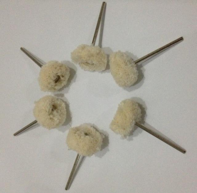 50pcs Dental Lab cotton thread polishing wheel white creamy carving jewelry Remove rust burr dust surface polishing