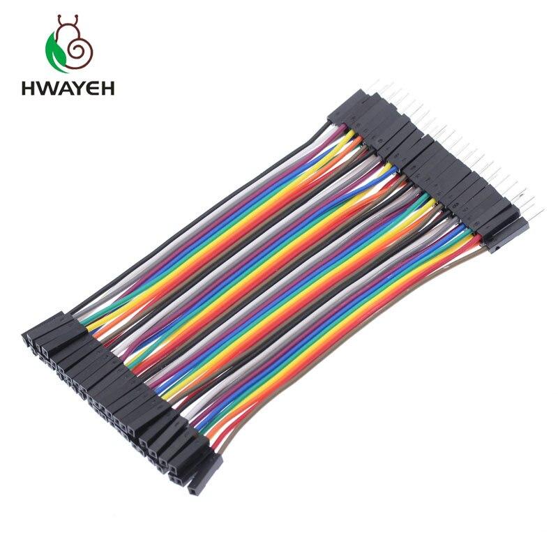 40pcs 30 cm Dupont Wire Female to Female Breadboard Jumper Wires Câble Ruban USA