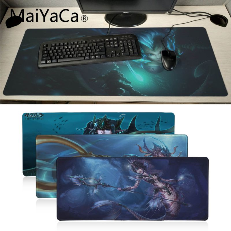 MaiYaCa League Of Legends Nami Gamer Play Mats Mousepad Large Gaming Mouse Pad Anti-slip Perfect Locking PC Computer Desk Mat