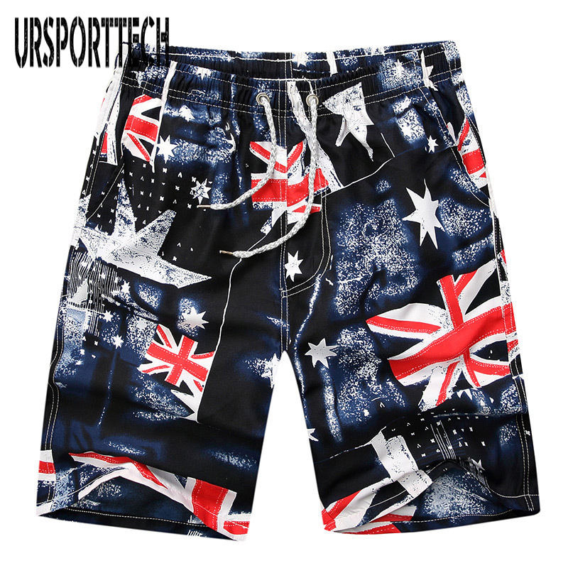 Fashion Men's Printed Beach Shorts Quick Dry Swimsuit Swim Trunks Male Swimwear Surfing Shorts Short Beachwear Plus Size Sports
