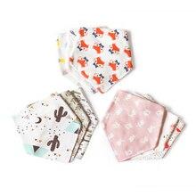 Детские нагрудники фламинго для новорожденных слюнявчик для девочек и мальчиков Детский нагрудник для кормления фартук на время приема пищи треугольник шарф baberos вещи