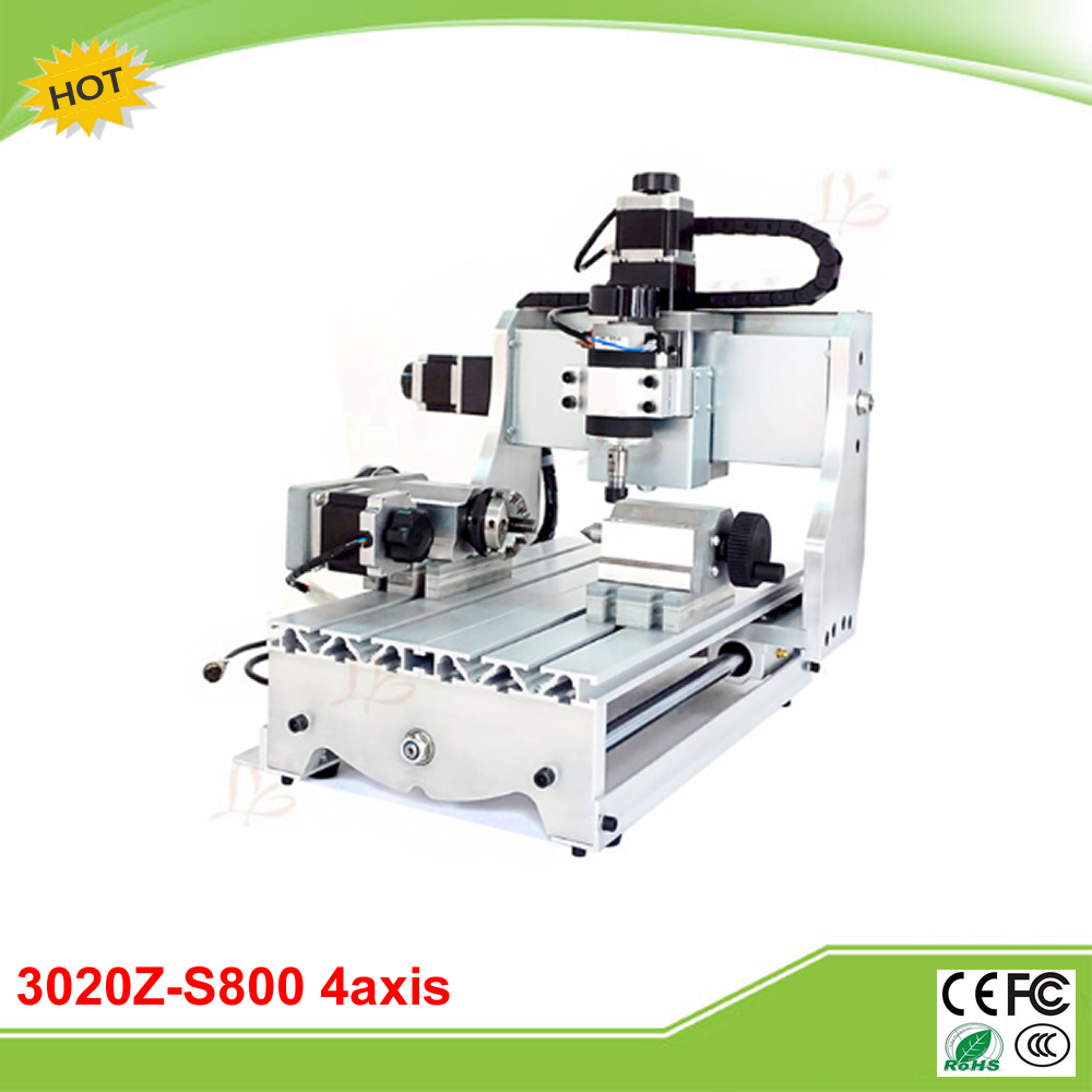 CNC 3020Z-S800 4 axis mini CNC router with rotary axis 800W spindle free tax to EU  rotary axis mini router cnc