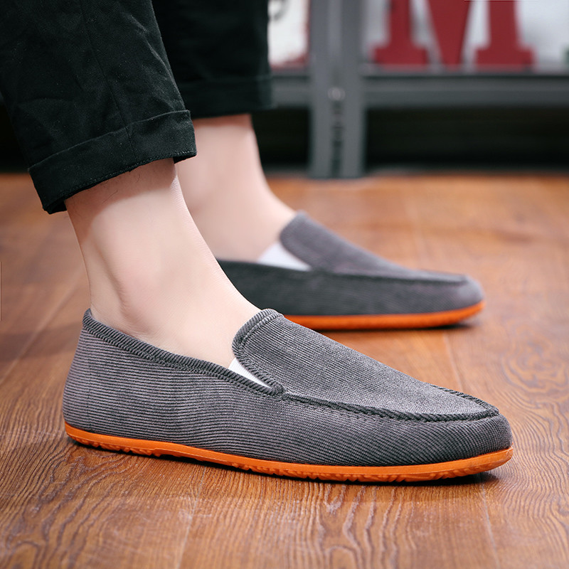 Man's Big Size Loafers  Flats Slippers Fabric Slip-on Men Gommino Driving Shoes Fashion Summer Espadrilles Soft Male Moccasins