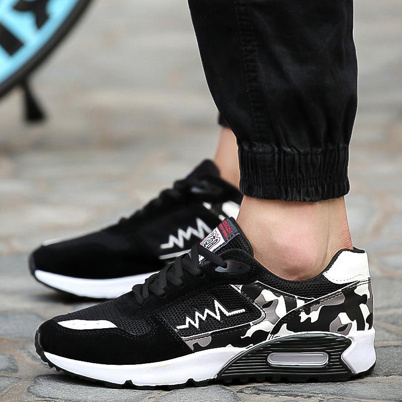 Brand Men Shoes Tenis Masculino Adulto Fashion Casual Shoes Camouflage  Breathable Mesh Air Shoes Men Sneakers Zapatos De Hombre zapatillas de moda 2019 hombre