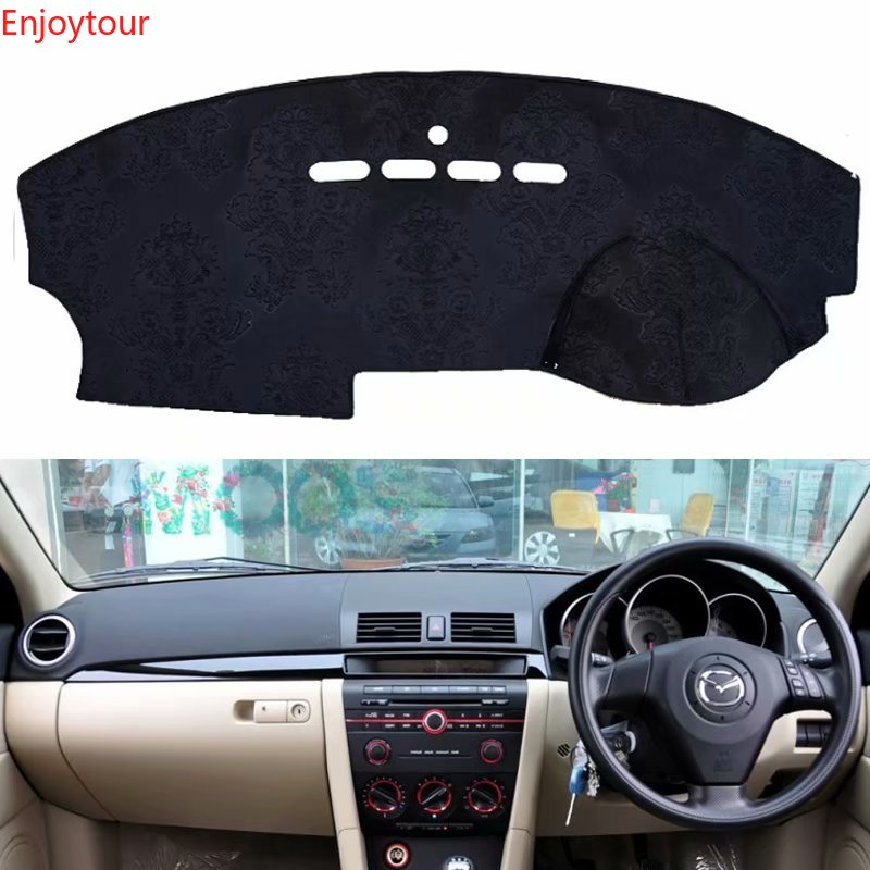 Flannel Dashmat Dashboard Covers Dash Car Mat Carpet Custom Accessories For mazda 3 <font><b>mazda3</b></font> BK 2003 2004 2005 2006 <font><b>2007</b></font> 2008 2009 image