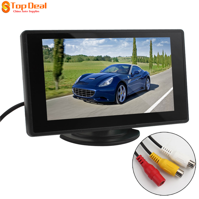 Venda 4.3 Polegada TFT a Cores LCD Car Rear view Monitor de Estacionamento Retrovisor do carro Monitor de 4.3 ''de 2 Entrada de Vídeo para Câmera Reversa de Backup DVD