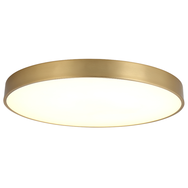 All copper ceiling lights Europe living room bedroom restaurant ceiling mounted lamps study American style lighting fixture