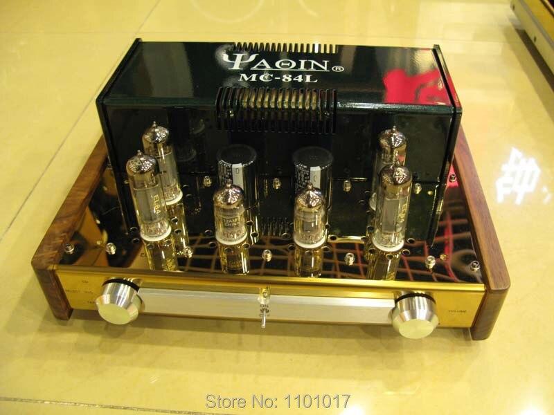 YAQIN MC-84L EL84 Push-Pull Amplificador Valvulado HIFI EXQUIS Classe A lâmpada Integrada amp de fone de ouvido de saída