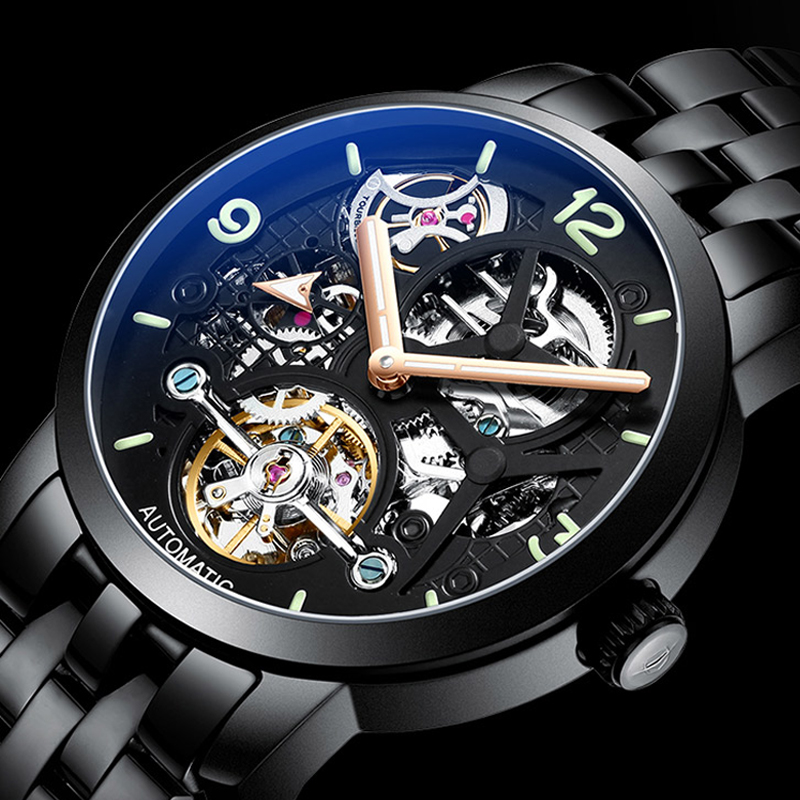AILANG time luxury brand watches the best automatic mechanical watch men full steel business sport waterproof watches Male watch - 2