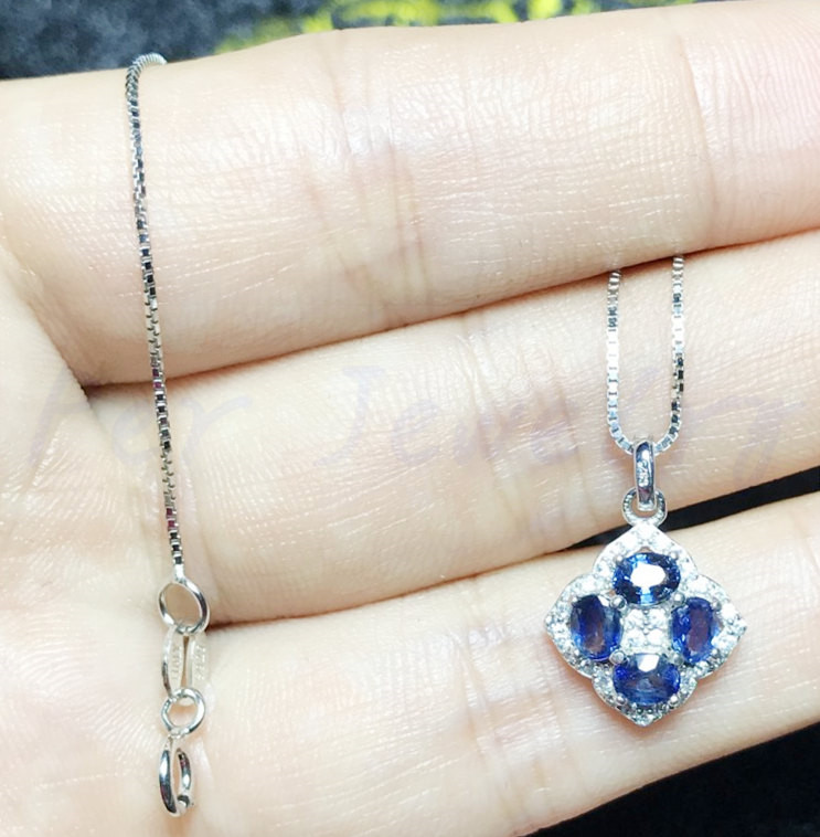 Sterling Silver Natural Sapphire Hand Cut Necklace June Birthstone Purple to Teal Green Color Change 8.60 Ct 13.01 x 9.64 mm Sapphire