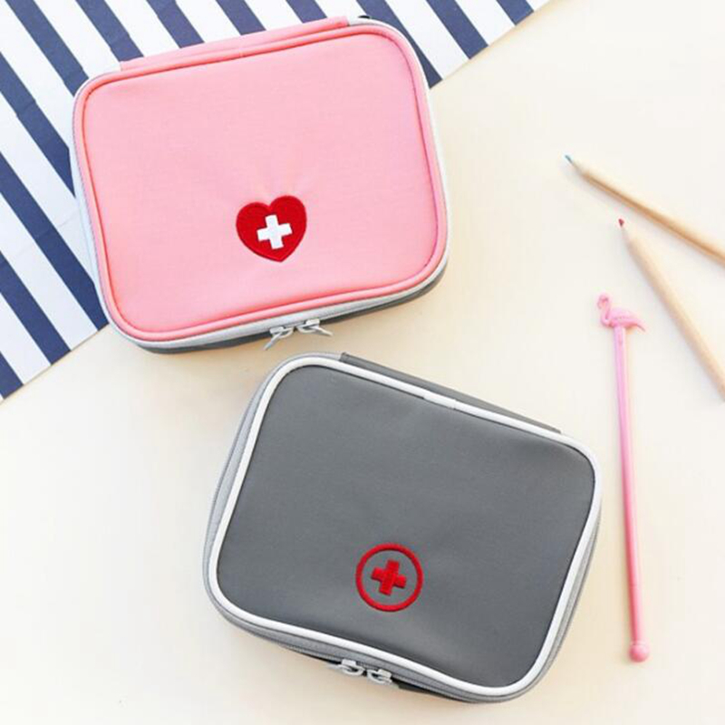 Travel Accessories Function Portable First Aid Kit Organizers Emergency Drug Cotton Fabric Medicine Bag Pill Case Splitters Box