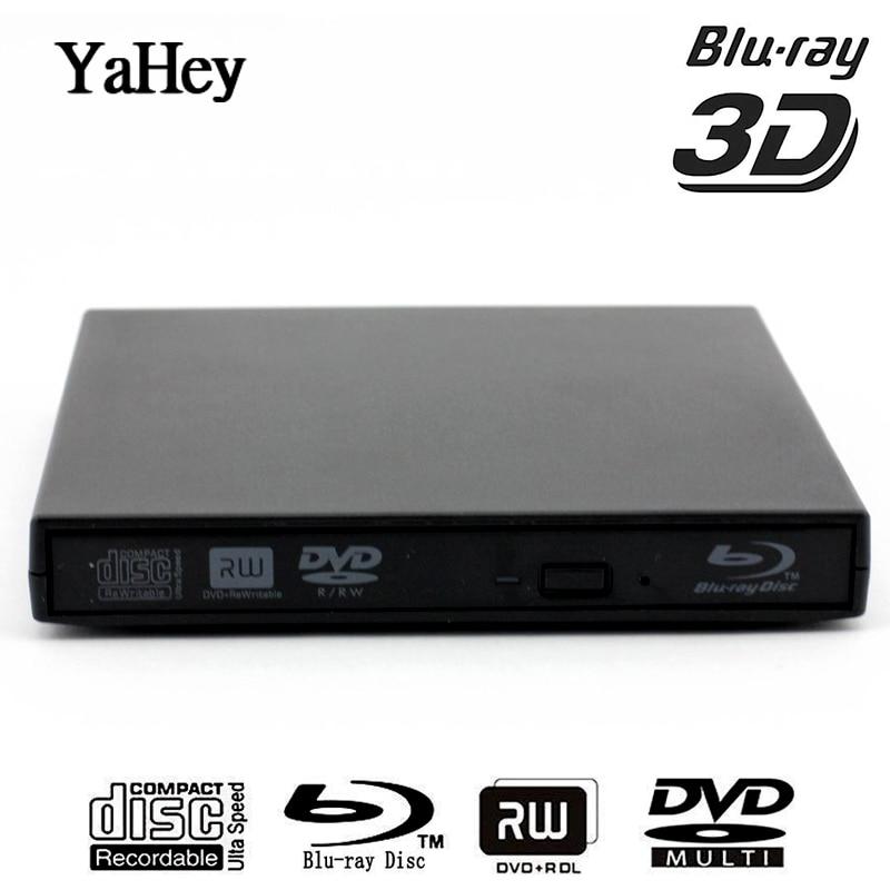 Bluray Player External USB 2.0 DVD Drive Blu-ray 3D 25G 50G BD-R BD-ROM CD/DVD RW Burner Writer Recorder for Laptop Computer PC