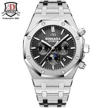 BINKADA montres hommes de luxe Top marque Original étanche Auto montres mécaniques de mode montre-bracelet hommes Style Royal