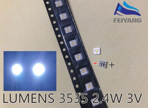200PCS LUMENS LED Backlight Flip-Chip LED 2.4W 3V 3535 Cool white 153LM For SAMSUNG LED LCD Backlight TV Application