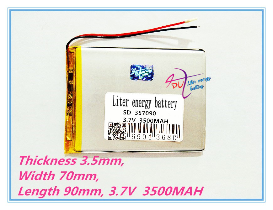 357090 3.7V 3500mAh Lithium polymer Battery with Protection Board For Tablet PC U25GT диск обрезиненный torres pl507215 15кг 26мм
