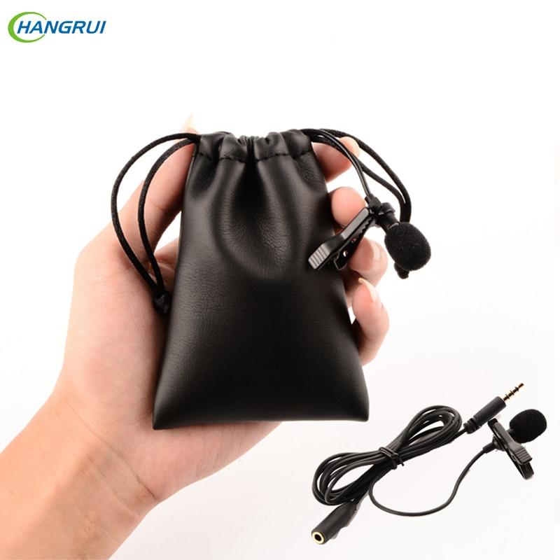 HANGRUI Lavalierマイクボイスレコーダーコンデンサーマイクラペルスタジオカラオケmicrofone用iphone 6 xiaomiスマートフォン