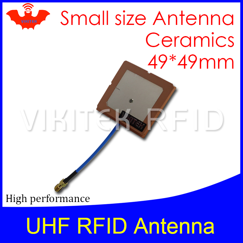 RFID Mini Panel antenna Vikitek VA45 UHF RFID antenna 915MHZ 49mmx49mm short range 919.5-925.5MHZ can be used for rfid reader 1000pcs long range rfid plastic seal tag alien h3 used for waste bin management and gas jar management