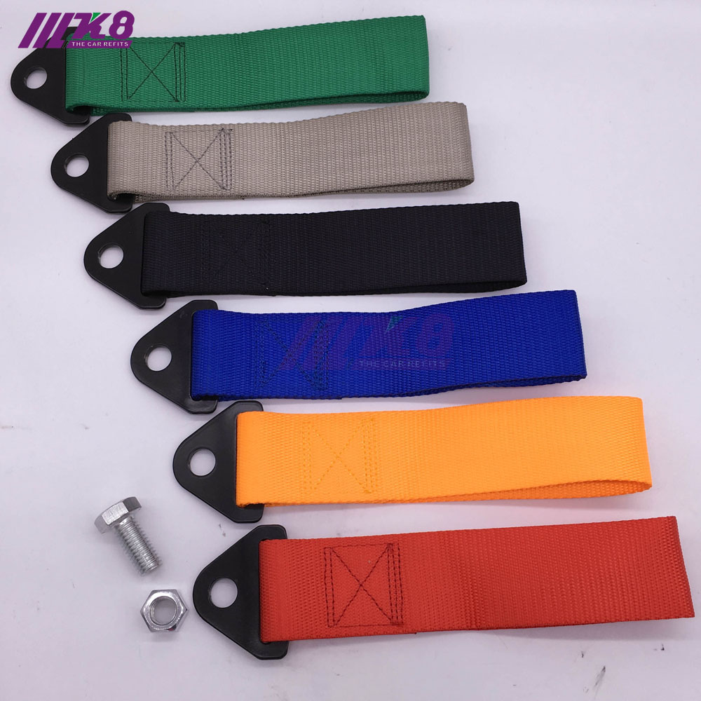 K8-TS001 Free Shipping Universal New Tow Straps High Quality Racing Car Tow Straps / Tow Ropes / Hook / Towing Bars With Logo