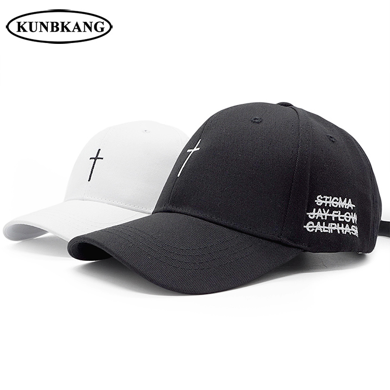 ad3fb75cb6dff New Classic Cross Baseball Cap Cotton Letter Embroidery Belt Snapback Hat  Hip Hop Jesus God Cap