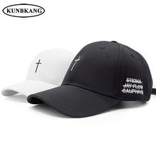 8a52978a798 New Classic Cross Baseball Cap Cotton Letter Embroidery Belt Snapback Hat  Hip Hop Jesus God Cap