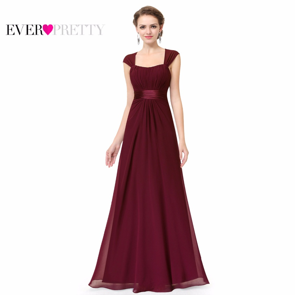 Long Simple Bridesmaid Dresses 2018 New Arrival Ever Pretty Ep08834 Chiffon Wedding Party In From