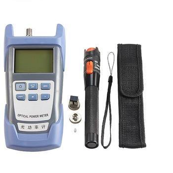 One Set FTTH Tool Kit SKL-60S Fiber Optic Power Meter Fiber Cleaver 10mW Fiber Tester Visual Fault Locator Strippers