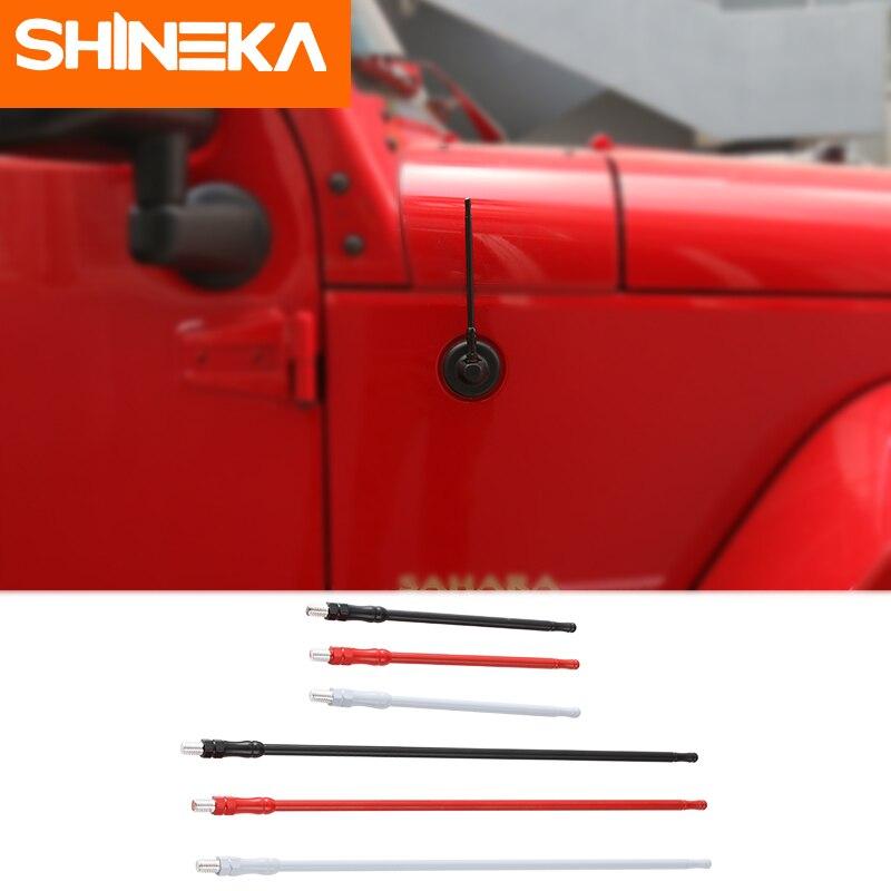 SHINEKA Antennes pour Jeep Wrangler JL Accessoires 2018-2007 JK 17 cm 33 cm Universial De Remplacement En Métal Radio Antenne pour Wrangler