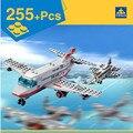 Rusia cisterna avión de combate kazi 84022 building block sets 255 unids educación jigsaw diy construcción ladrillos juguetes para los niños