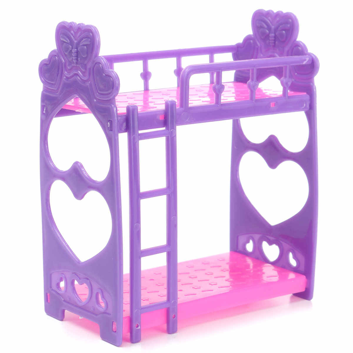 Plastic Miniature Double Bed Toy Furniture For Dollhouse Mini Doll Dream Closet Playing House Toys Decoration Toys Gifts