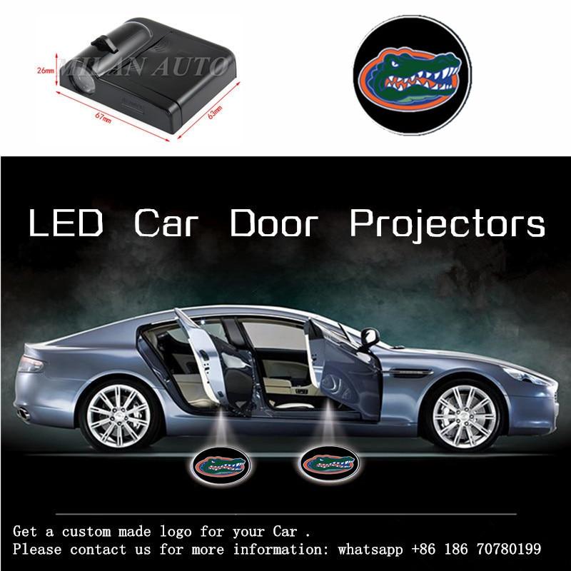 2X Gators Team Car LED Door Welcome Logo font b Laser b font Projector Ghost Shadow