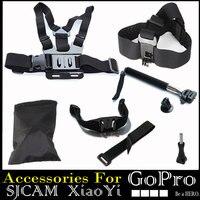 BYNCG For Gopro Accessories Set Helmet Harness Chest Belt Head Mount Strap For Hero 123456 Xiaomi
