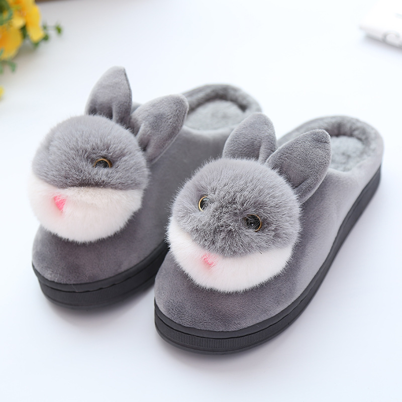 Cartoon Rabbit Indoor Cotton Slippers Women Ladies Winter Warm Soft Floor Home Slipper for Female SH18 meinl sh18