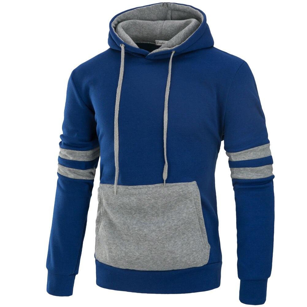 Мужская мода Повседневное плотная свитер с капюшоном пуловер с капюшоном Повседневное Adult Top Черный, серый красные, синие осень Толстовки