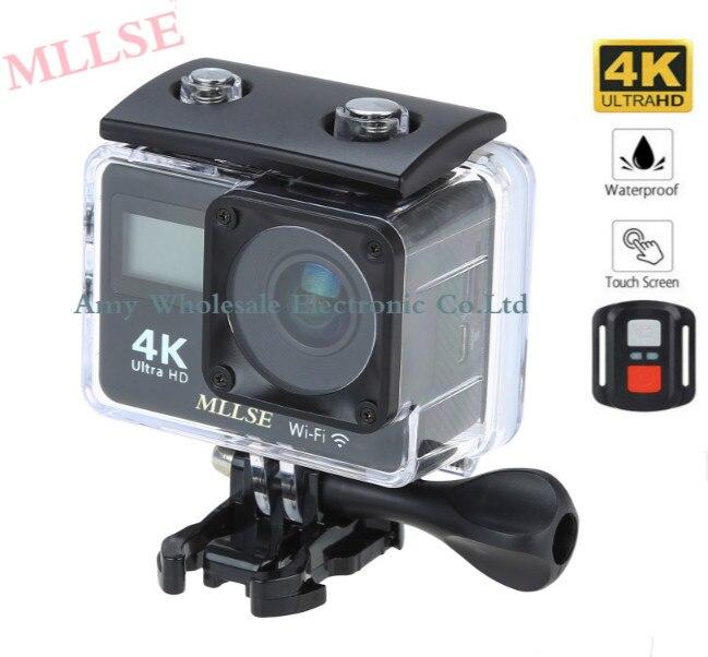 100% Original MLLSE double & écran tactile 4 K WIFI Sport Action caméra étanche 2.0 pouces 1080 p 60fps sport caméra + télécommande